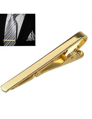 Pince à cravate dorée