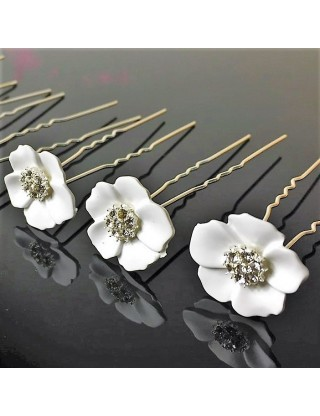 Epingle à chignon fleur blanche
