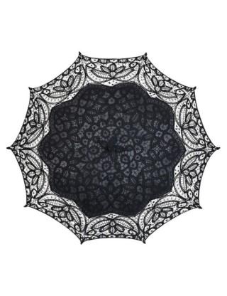 Ombrelle en dentelle de coton noire