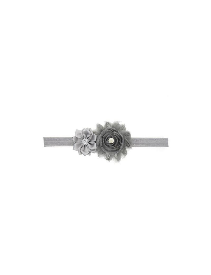 Bandeau double fleur, perle & strass