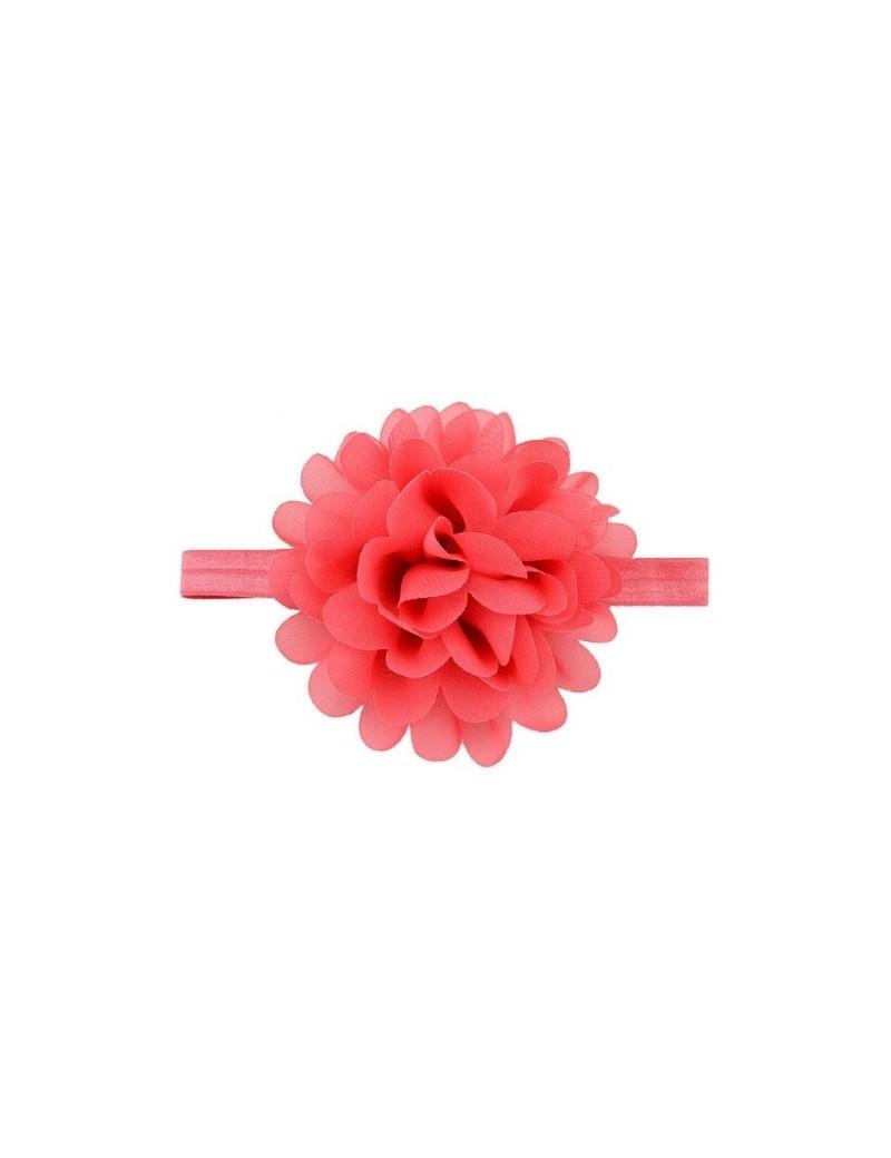 Bandeau mousseline grande fleur rouge