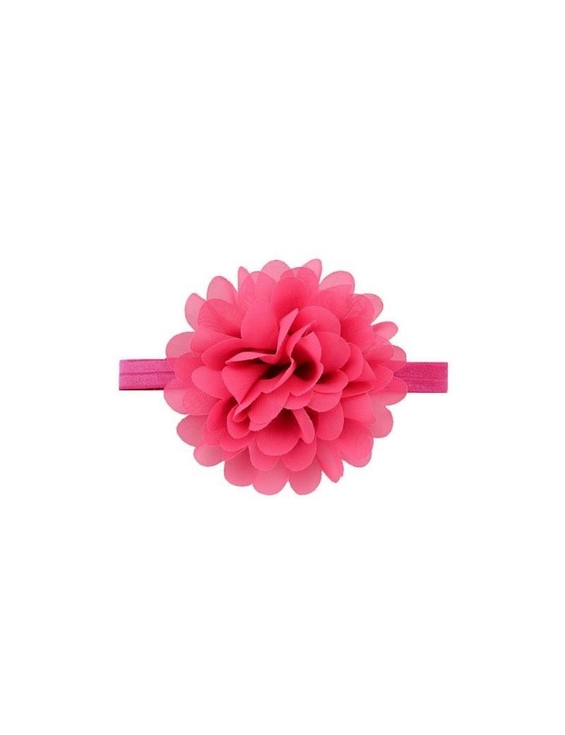 Bandeau mousseline grande fleur vieux rose