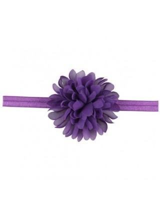 Bandeau mousseline grande fleur violet
