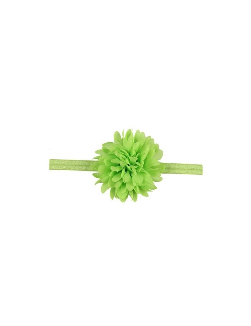 Bandeau mousseline grande fleur vert