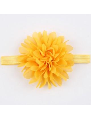 Bandeau mousseline grande fleur orange