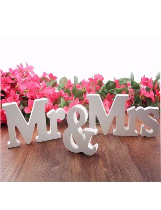 Décoration de table « Mr & Mrs »