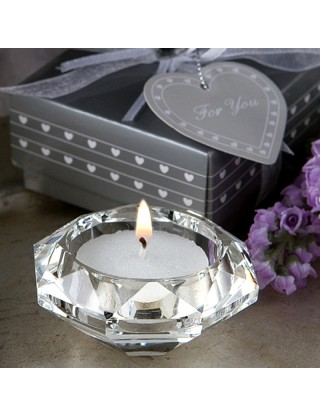 Bougeoir de table diamant