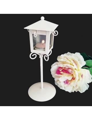 Photophore réverbère miniature blanc
