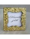 Marque place romantique paillettes doré