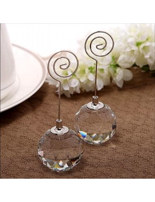 """Deux marque-places ou tables """"boule de Crystal"""" (x2)"""