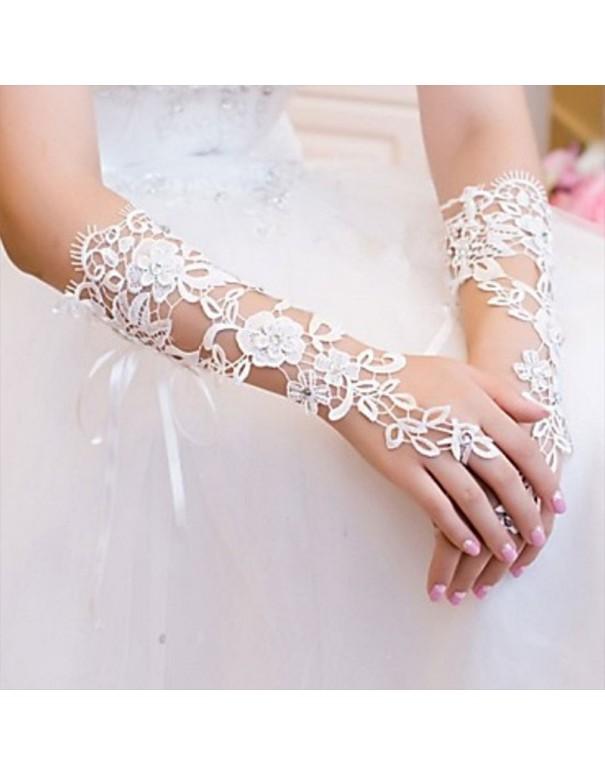 Gants pour mariée crochet