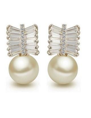 """Boucles d'oreilles """"pluie de perle"""""""