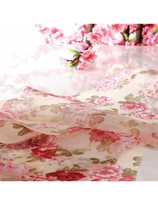 Chemin de table fleurs liberty boudoir organza