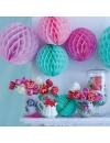 Boules de papier 20 cm rose