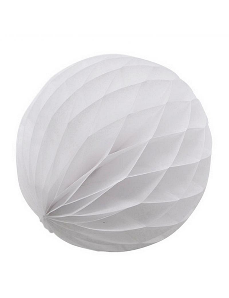 Boules de papier 20 cm blanc