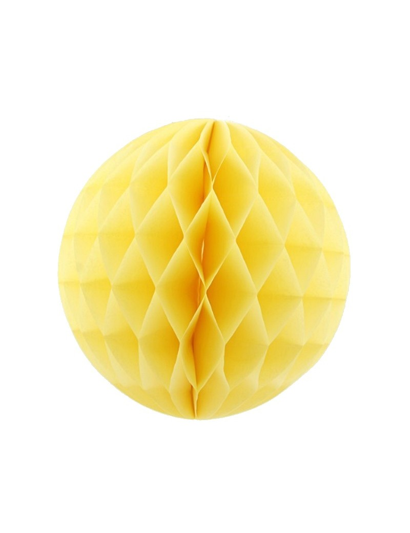 Boules de papier 20 cm jaune