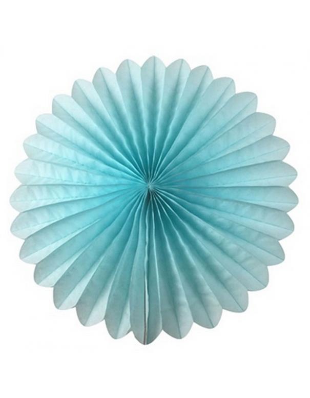 Rosaces en papier 46 cm bleu