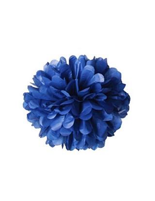 Pompons en papier de soie bleu marine