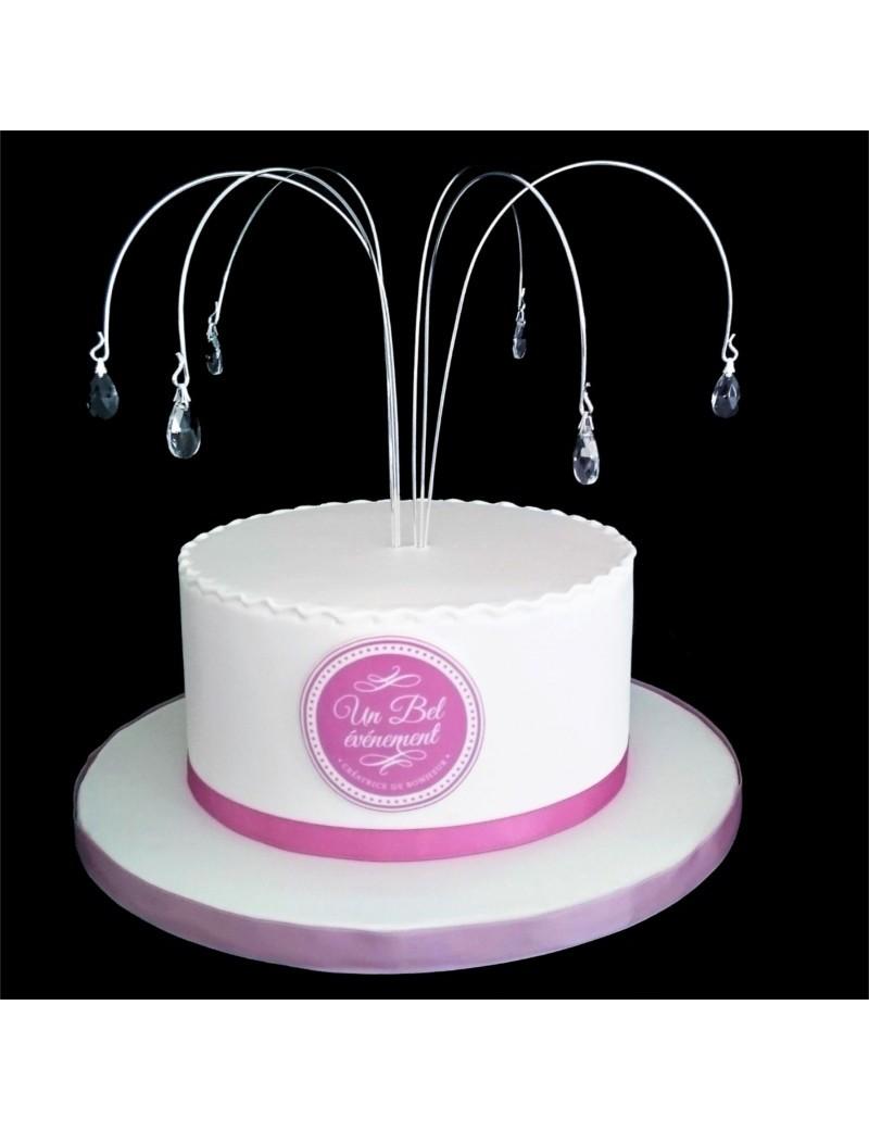 Haut de gâteau pics courbées à pampilles