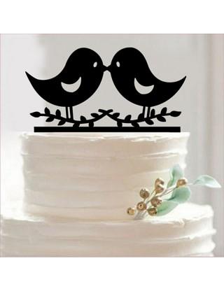 Figurine de gâteau duo d'oiseaux