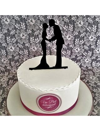 """Figurine de gâteau """"tendre baisé"""""""