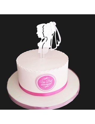 Haut de gâteau portrait du couple