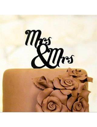 "Figurine de gâteau gay ""Mrs & Mrs"""