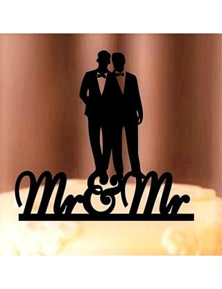 Figurine de gâteau couple hommes gays