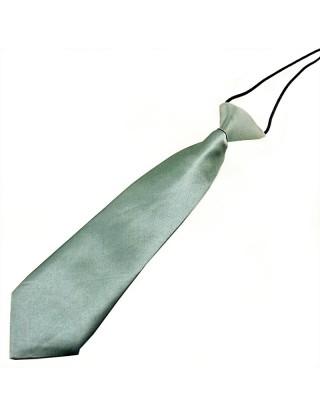 Cravate de cérémonie en satin petit garçon grise