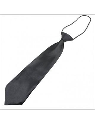 Cravate noire en satin petit garçon
