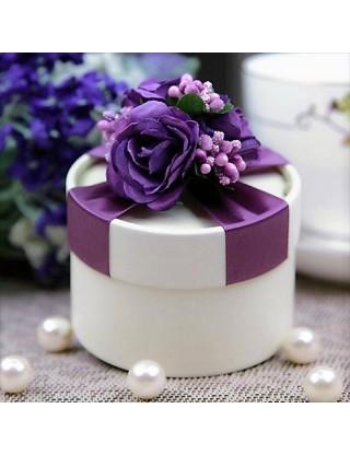 Contenant à dragées rond violet