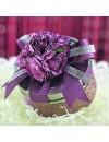 Contenant à dragées boite métal violet