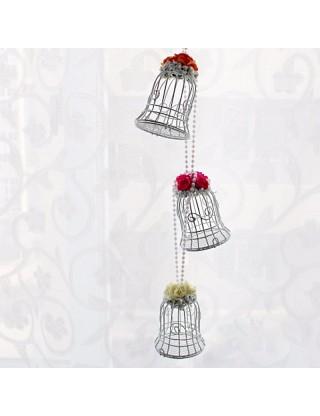 Contenant à dragées cage à oiseaux vert