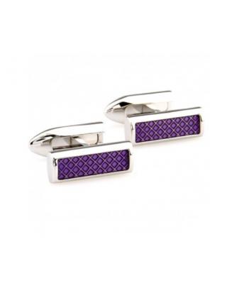 Boutons de manchette rectangulaires violets