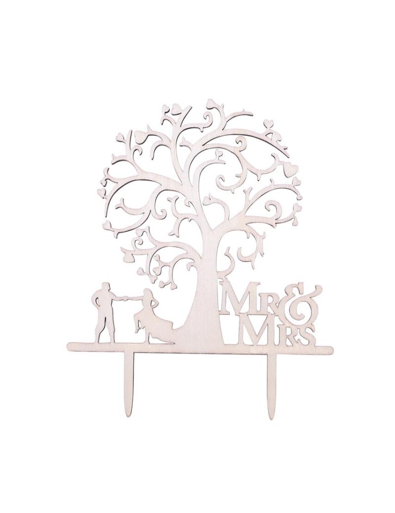Haut de gâteau arbre Mr et Mrs