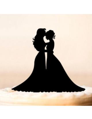 Haut de gâteau couple de femmes