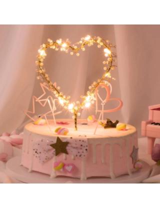 Haut de gâteau cœur lumineux à led