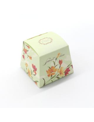 Contenant à dragées boite fleuris liberty ivoire