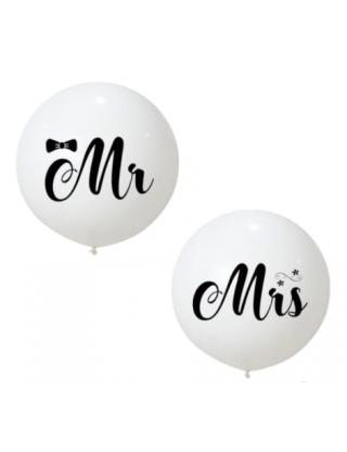 Ballons géant Mr & Mrs