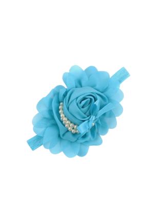 Bandeau fleur bleu ciel et...