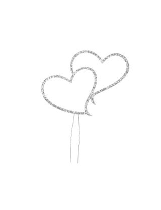 Haut de gâteaux cœurs à strass