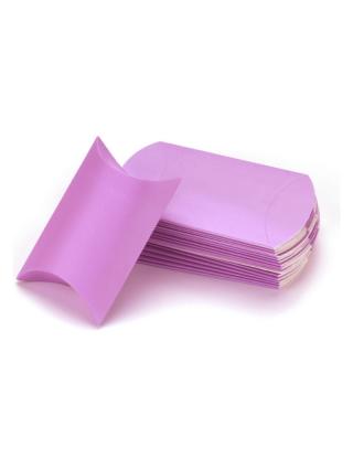 Contenant à dragées boite en carton violet (x10)
