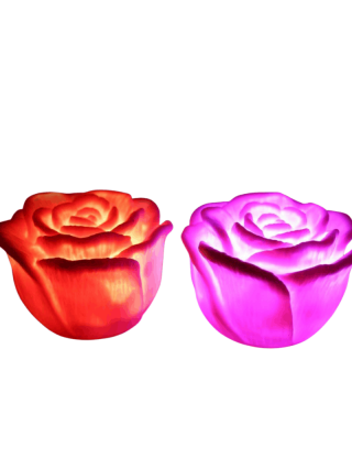 Bougies LED en forme de rose