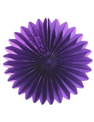 Rosace en papier 46 cm violet