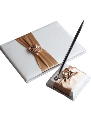 Livre d'or et porte-stylo...
