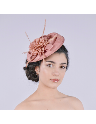 Bibi chapeau femme rose accessoire mariage
