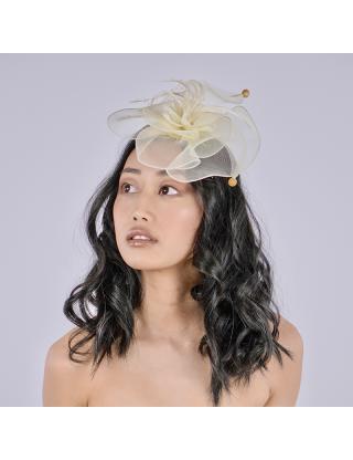 Chapeau bibi - fleur crème...