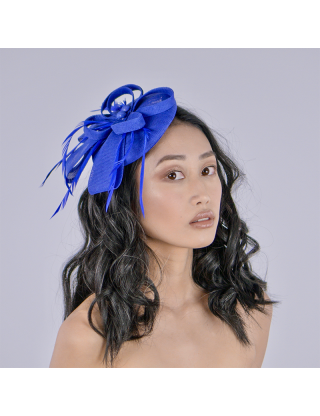Chapeau bibi - nœud bleu...