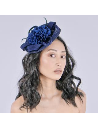 Chapeau bibi - Fleur bleu...