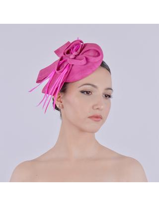 Chapeau bibi - nœud rose...